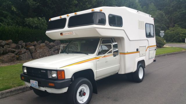1984 Toyota Motorhome 4x4 22r 5spd Sunrader 21ft 63 Xxx