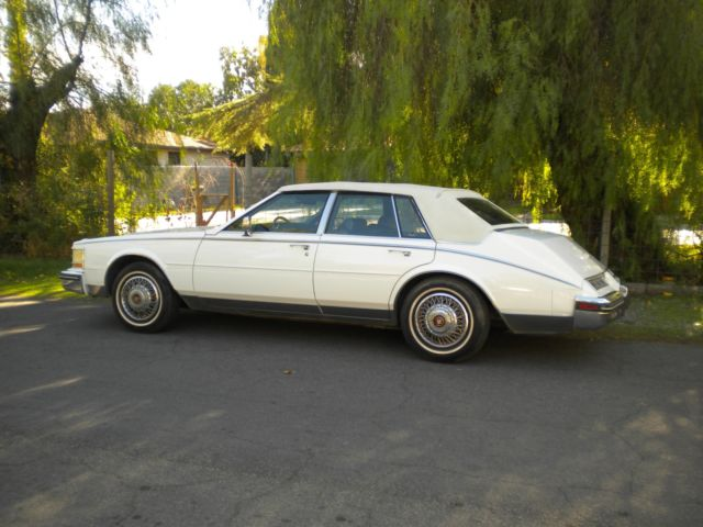 1985 Cadillac Seville Looks Runs Good Vinyl Top White On White 4