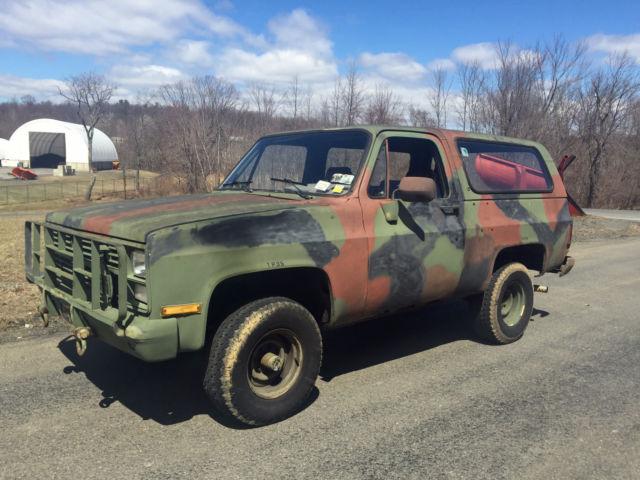 1985 Chevrolet Blazer M1009 CUCV Diesel 4x4 Military Rat ...