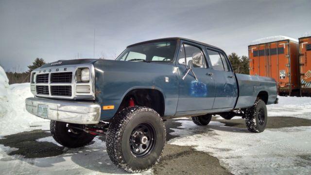 1985 Dodge Crew Cab Cummins, Diesel, 2500, 3500, Ram, 4x4, LE, 5.9L Cummins,