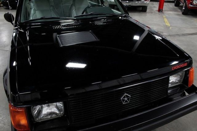 1985 Dodge Omni GLH 15901 Miles BLACK Sedan 2.2 Liter 4 5 Speed Manual