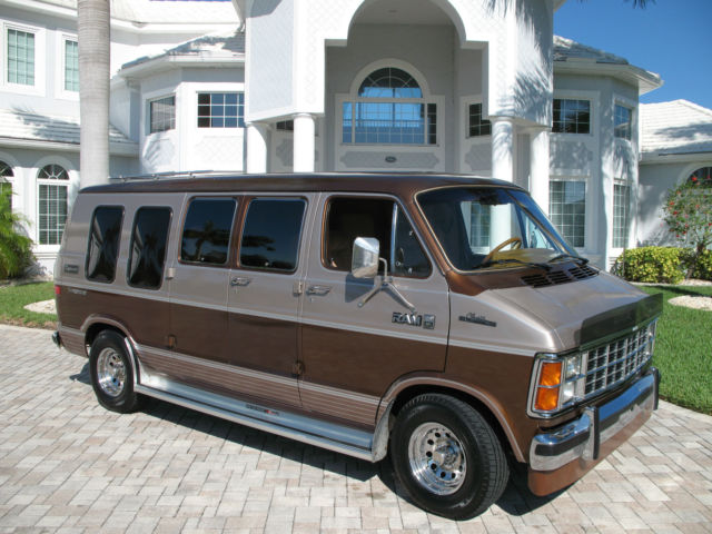 1985 Dodge Ram B250 Van 1 Owner Very Low Miles V8 At Ac Full Power Immaculate