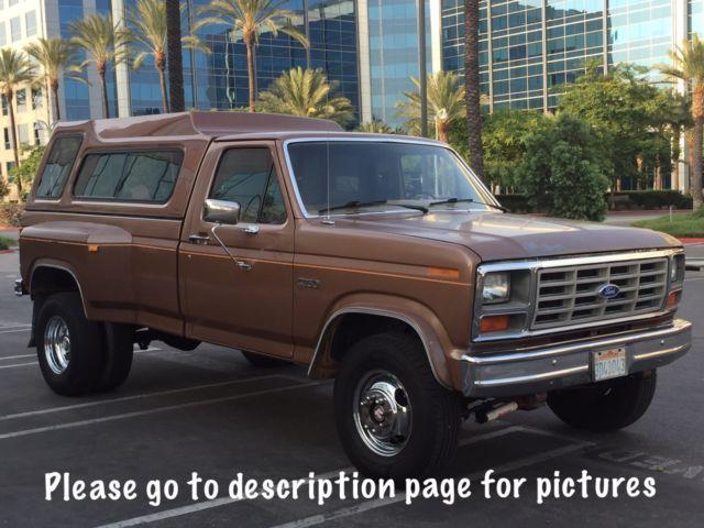 1985 ford f250 dually v8 big block 4x4 california classic 4 wheel drive dually