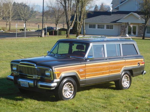 1985 jeep grand wagoneer base sport utility 4 door 5 9l v8. Black Bedroom Furniture Sets. Home Design Ideas