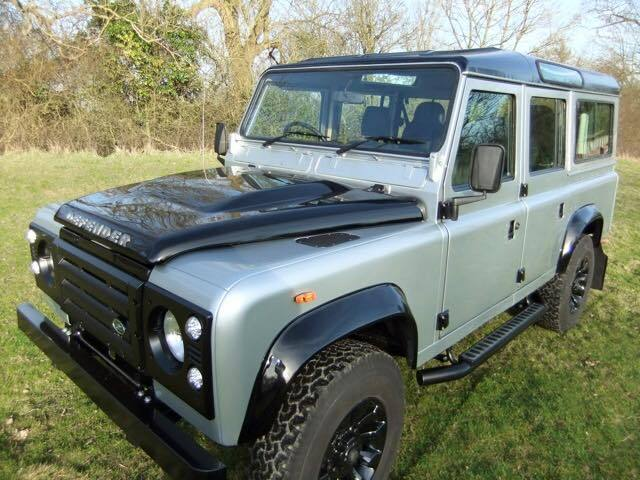 1985 land rover defender 110 v8 county station wagon 2016 idus silver. Black Bedroom Furniture Sets. Home Design Ideas