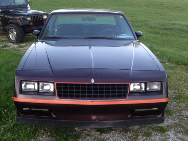 1985 Monte Carlo ss dark cherry metallic power windows and locks