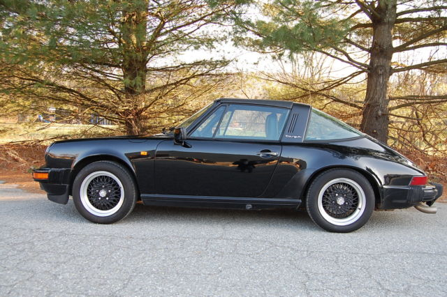 1985 Porsche 911 Carrera Targa Black Black Sport Seats