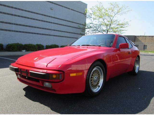 1985 porsche 944 5 speed red sharp look bbs wheels low miles clean great find. Black Bedroom Furniture Sets. Home Design Ideas