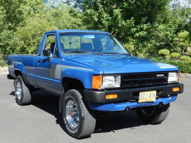 1985 toyota sr5 pickup truck 39 4 cyl turbo diesel 2l t 39 4x4 5 speed straight axle. Black Bedroom Furniture Sets. Home Design Ideas