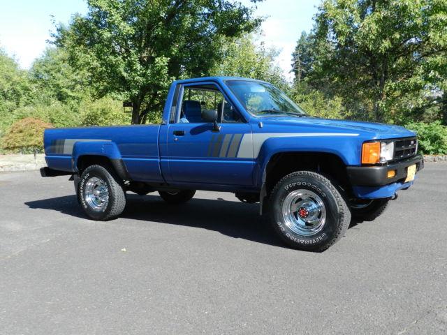 1985 toyota sr5 pickup truck 39 4 cyl turbo diesel 2l t 39 4x4 5 speed straight axle for 1985 toyota pickup interior parts