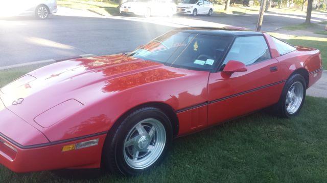 1986 chevrolet corvette red 89 6 00 miles tuned port injection. Black Bedroom Furniture Sets. Home Design Ideas