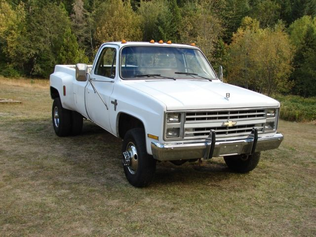 Chevy 6 2 Diesel Truck For Sale >> 1986 Chevy K30, 4x4 1 ton pickup truck Dually Diesel, GMC 3500