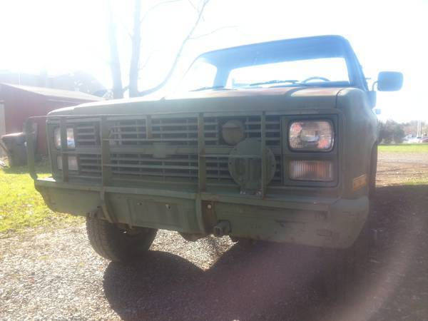 1986 Cucv K30 Chevy M1008 D30 5  4 Ton Dana 60 14ff 4 56s