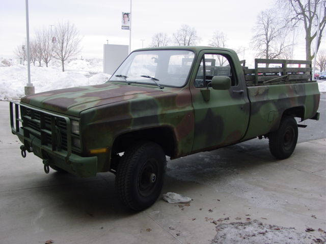 Chevrolet K20 4x4 For Sale >> 1986 DIESEL CHEVY 4x4 K10 CAMO PICKUP TRUCK 6.2l V8 NO RESERVE!
