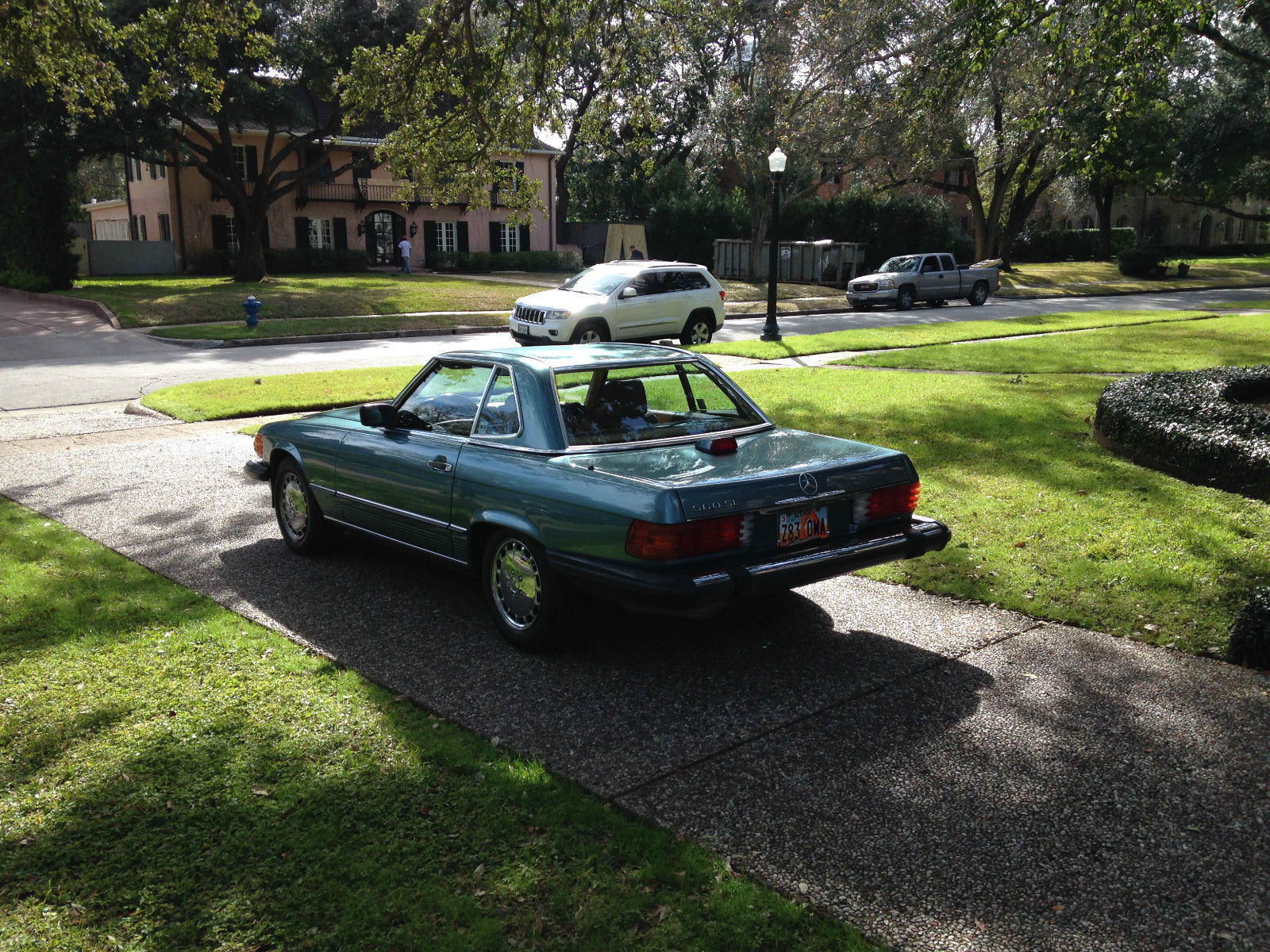 1986 Mercedes Benz 560sl Petrol Blue Green Over Palomino