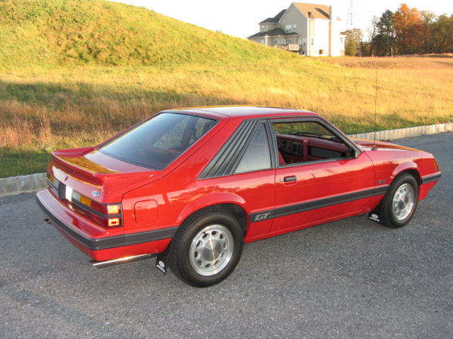 1986 mustang gt rare unmodified never raced original car for sale in thorndale. Black Bedroom Furniture Sets. Home Design Ideas