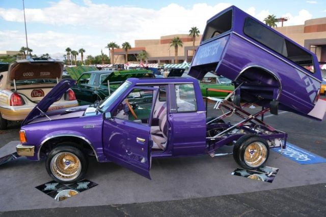 1986 Nissan 720 King Cab Mini Truck Lowrider Old School Truckin