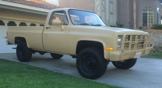 1986 tan chevy military truck 4x4 m1008 cucv k30. Black Bedroom Furniture Sets. Home Design Ideas