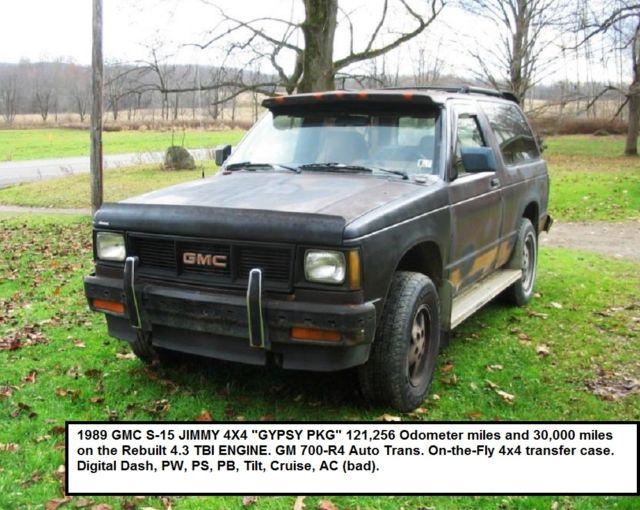 1987 1988 1989 1990 1991 1992 1994 4x4 Gmc Jimmy Chevy S 10 Blazer
