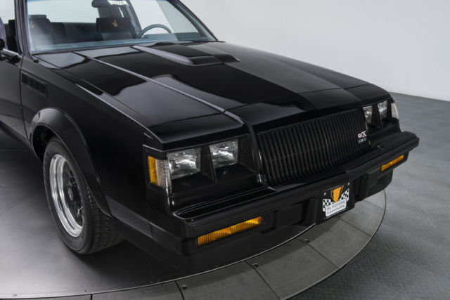 1987 buick regal gnx 841 miles black coupe 3 8 v6 turbo 4 speed automatic. Black Bedroom Furniture Sets. Home Design Ideas