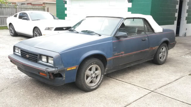 1987 Cavalier RS Convertible V6 5-speed Chevy Chevrolet