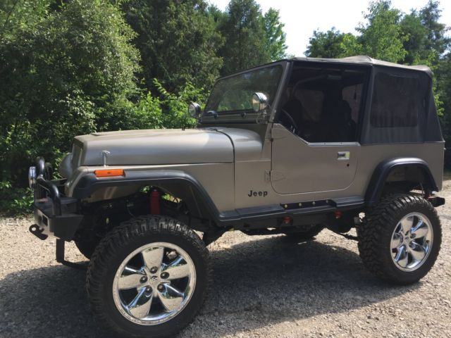 1987 jeep wrangler yj rust free v 8 on 20 inch wheels project crawler all new. Black Bedroom Furniture Sets. Home Design Ideas