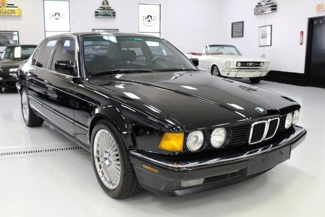 1988 bmw 7 series 735i 83918 miles black straight 6 cylinder engine 3 4l 209 ma. Black Bedroom Furniture Sets. Home Design Ideas