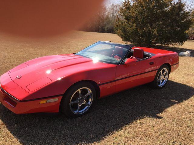 1988 corvette convertible bright red c4 automatic. Black Bedroom Furniture Sets. Home Design Ideas