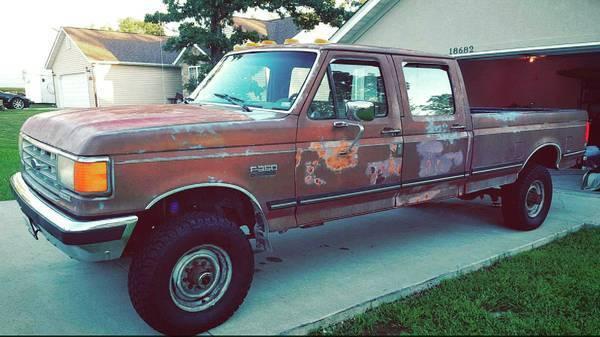 1988 Ford F 350 7 3l Diesel 4x4 Crew Cab 5 Speed Manual