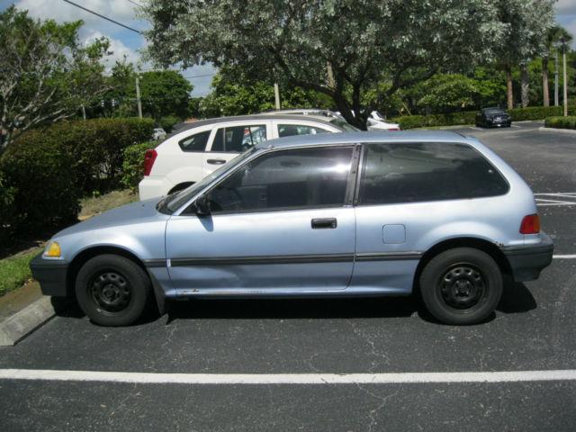 1988 Honda Civic EF Hatchback 1.5 Liter Manual 4 Speed Blue Classic Car Lo  Miles