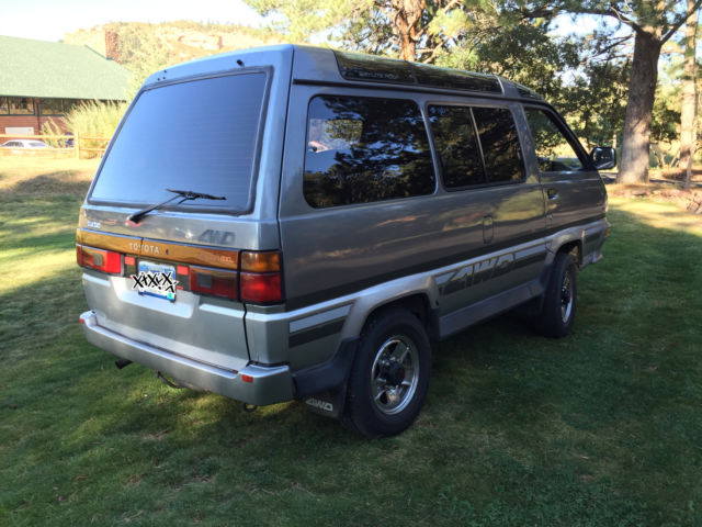 1988 Toyota Lite Ace 5 Sd Turbo Sel 4 Wheel Drive Van With Hi Low