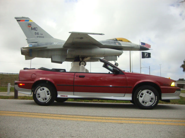 1989 Chevrolet Cavalier Z24 Convertible 2 Door 2 8l For Sale In