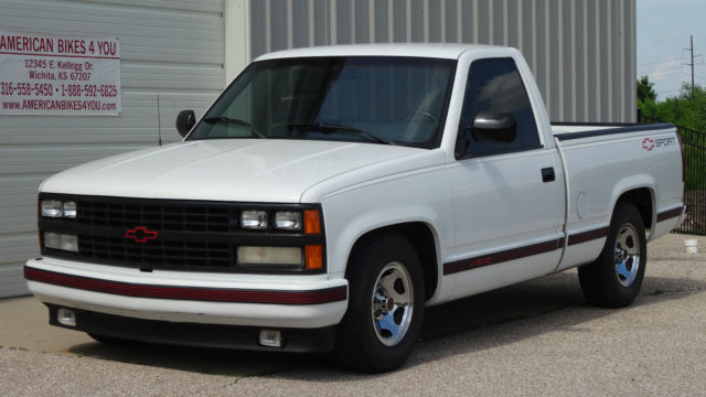 1989 Chevrolet Chevy Shortbed Sport Truck Pickup Low Mileage Not Gmc
