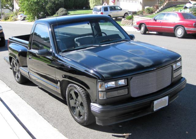 1989 Chevrolet C K Pickup 1500 Stepside Short Bed Black