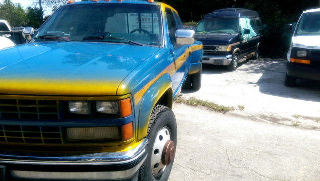Chevy Fort Myers >> 1989 Chevy K3500 4X4 Dually SIlverado Extended Cab Low Miles, Custom Paint