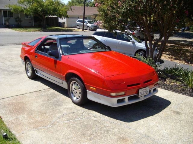 Dodge Daytona Turbo Speed California Rust Free T Tops Es Like Shelby on 1989 Dodge Daytona Interior
