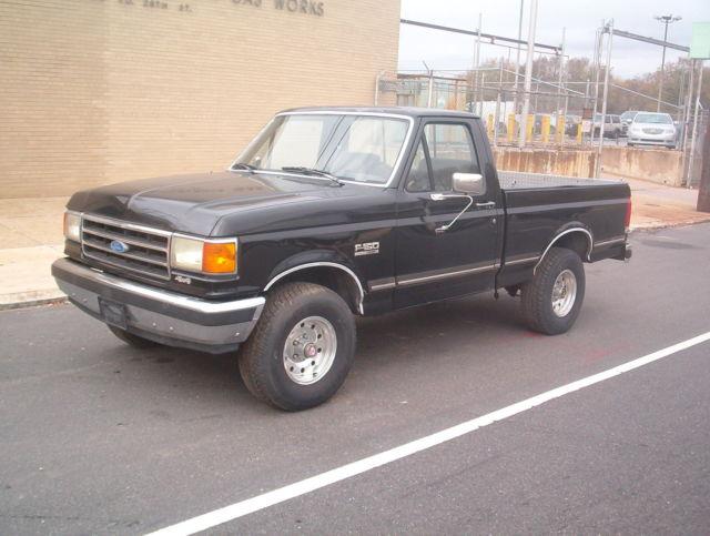 1989 FORD F150 4X4 SHORTBED REGULAR CAB XLT STICK BLACK ...