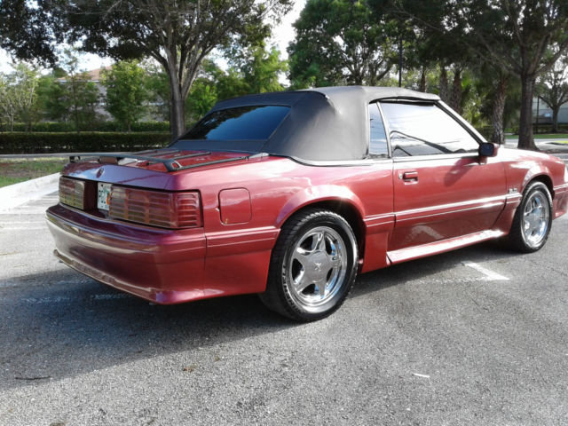 1989 Ford Mustang Gt Convertible 5 0l Foxbody Chrome Pony
