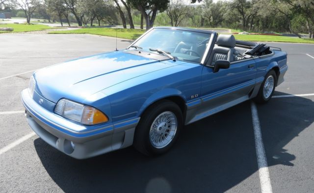 1989 Ford Mustang GT Convertible - 7,406 Miles - Collector ...