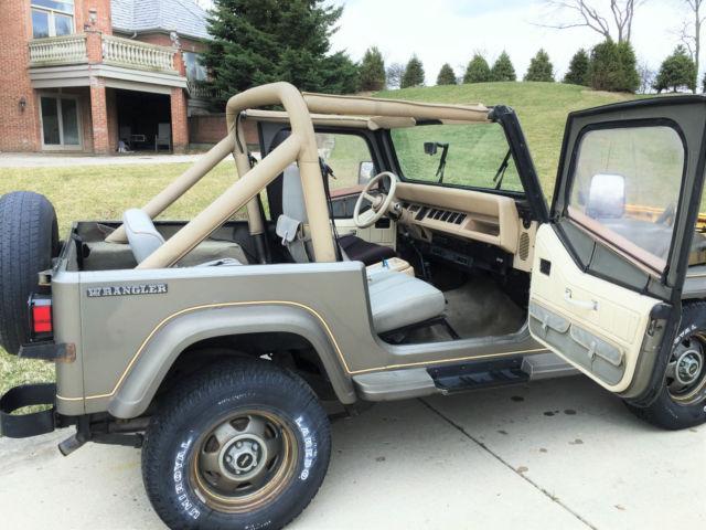 1989 Jeep Wrangler Yj Sahara 4x4 4 2l Inline 6 Cylinder