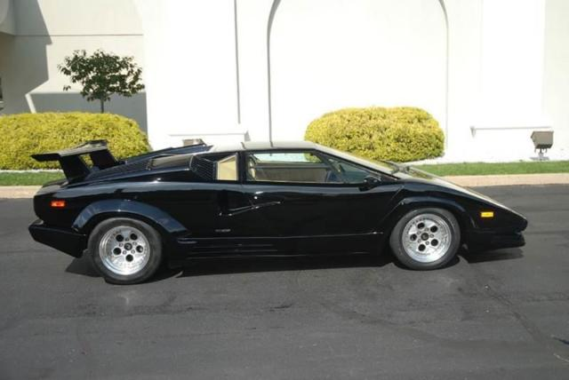 1989 lamborghini countach anniversary 6 180 miles black. Black Bedroom Furniture Sets. Home Design Ideas