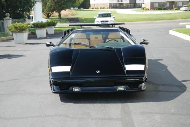 1989 lamborghini countach anniversary 6 180 miles black coupe v12 other manual. Black Bedroom Furniture Sets. Home Design Ideas