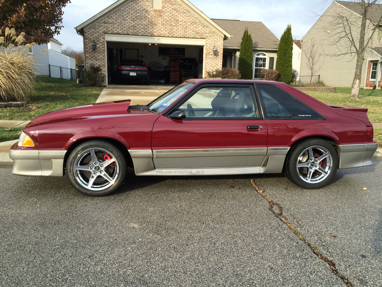 1989 mustang gt supercharged 2003 cobra disc brakes cage factory paint
