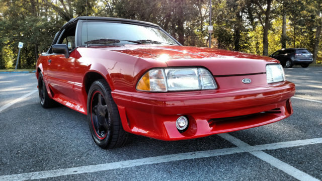 1990 ford mustang lx gt style convertible 5 0 automatic. Black Bedroom Furniture Sets. Home Design Ideas