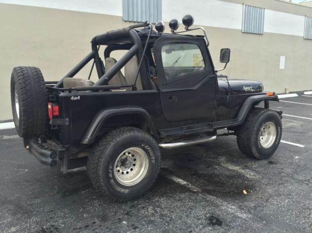 1990 jeep wrangler 2dr 4wd 8 cylinder automatic. Black Bedroom Furniture Sets. Home Design Ideas