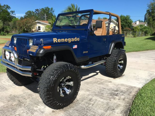 1990 jeep wrangler yj renegade new frame up restoration new 383 v 8 jegs stroker. Black Bedroom Furniture Sets. Home Design Ideas