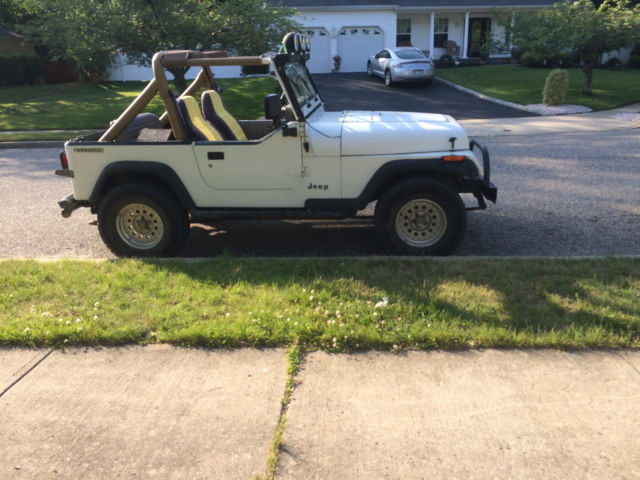 1990 jeep wrangler yj white hard top full doors for sale in toms riv. Cars Review. Best American Auto & Cars Review