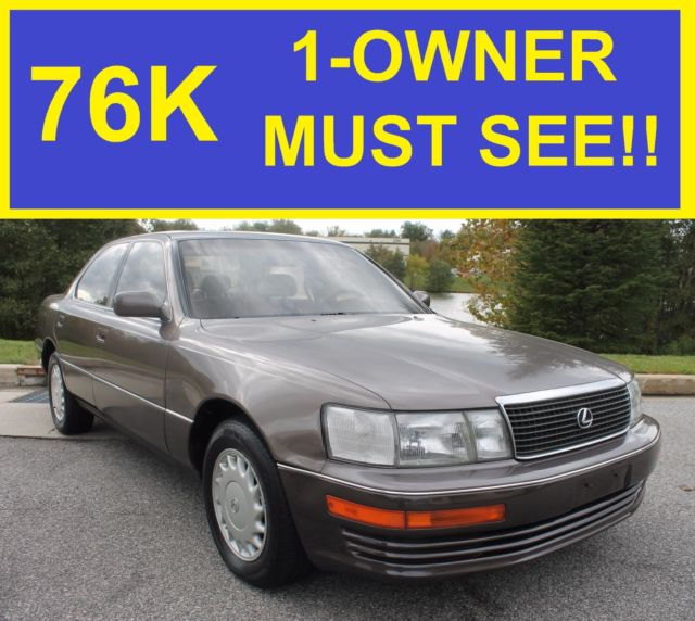1990 lexus ls 400 1 owner super clean 76k must see gs. Black Bedroom Furniture Sets. Home Design Ideas