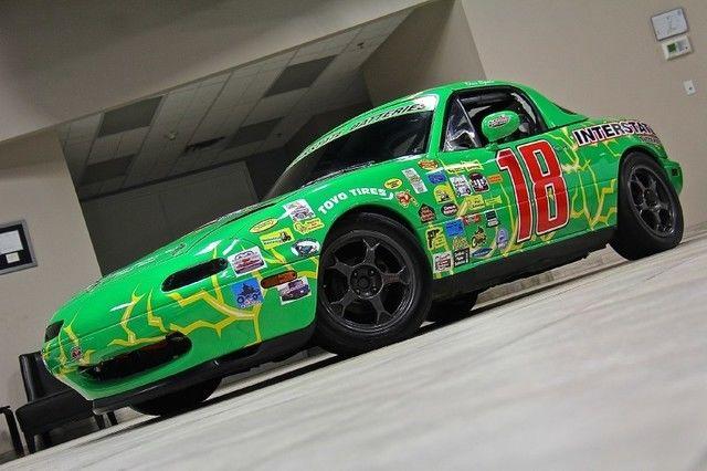 1990 mazda miata mx 5 track race car fully setup for track events green. Black Bedroom Furniture Sets. Home Design Ideas