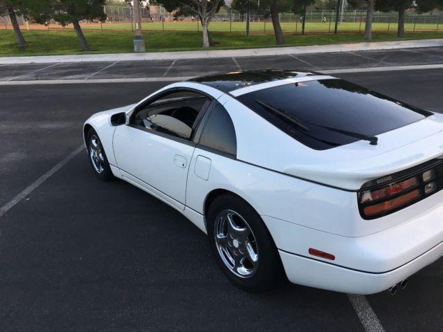 1990 Nissan 300zx Twin Turbo 57k Miles 1 Owner White Black 5 Speed